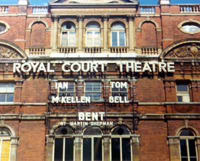 1979, BENT (1979): Marquee of the Royal Court Theatre