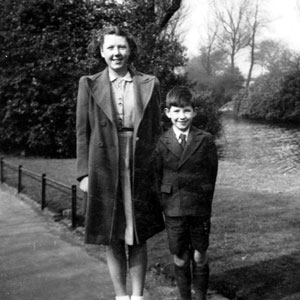 1946?,   With sister Jean in Mesnes Park opposite our house in Wigan
