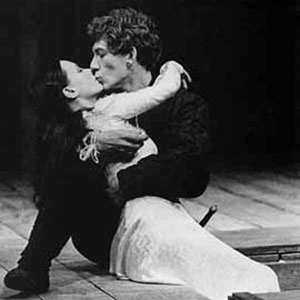 Thus with a kiss I die. Romeo (Ian McKellen) dies entwined with Juliet (Francesca Annis) who awoke just as Romeo expired, her arm moving above his still breathing corpse.