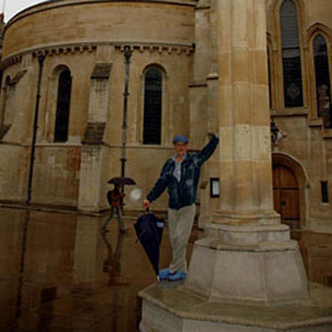 2005, THE DA VINCI CODE: The last time I stood here was over 30 years ago for a photo shoot advertising the BBC television broadcast of Christopher Marlowes <em>Edward 11</em>. Today its too wet for other visitors.  - Photo by Keith Stern