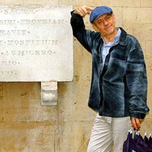 2005, THE DA VINCI CODE: The remains of my Latin are insufficient to decipher any secrets on this plaque.  - Photo by Keith Stern