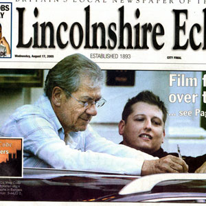 2005, THE DA VINCI CODE: The Lincolnshire Echo, Front Page, 17 August 2005