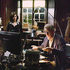 2006, THE DA VINCI CODE: Sophie (Audrey Tautou) and Teabing (Ian McKellen) in his study