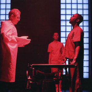 2006, THE CUT: Paul (Ian McKellen), Emma Beattie and Jimmy Akingbola  - Photo by Robert Workman