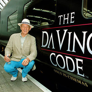 2006, THE DA VINCI CODE: 16 May 2006, with Eurostar train named THE DA VINCI CODE  - Photo by Steve Myers/Rex Features