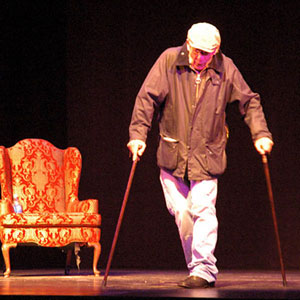 2006, A KNIGHT OUT IN LOS ANGELES (2006): Entrance as Teabing (Rehearsal)  - Photo by Keith Stern