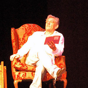 2006, A KNIGHT OUT IN LOS ANGELES (2006): Reading from THE PRELUDE (Wordsworth), Rehearsal  - Photo by Keith Stern