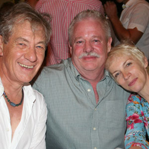 2006, A KNIGHT OUT IN LOS ANGELES (2006): With Armistead Maupin and Annie Lennox, post-show  - Photo by Richard Swaidan