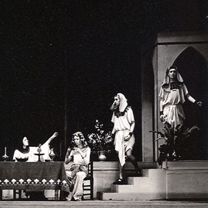 In Yusefs palace: But Highness, it is my Lord Potiphar -- Abdi; (Ian McKellen, seated left).