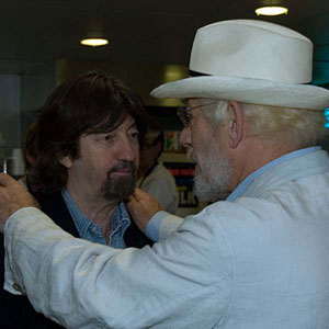 With Sir Trevor Nunn, RSC Green Room, April 2007