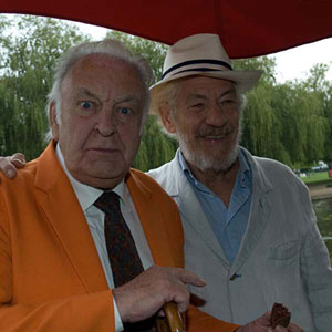 With Sir Donald Sinden, Stratford, April 2007
