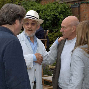 2007,   With Roger Allam and Patrick Stewart, Stratford-upon-Avon, April 2007  - Photo by Keith Stern