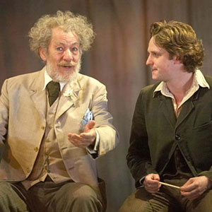 2007, THE SEAGULL (2007): Sorin (Ian McKellen) and Konstantin (Richard Goulding)  - Photo by Manuel Harlan