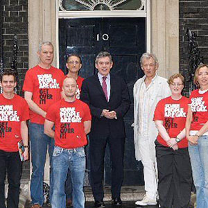 Members of Stonewall meet UK Prime Minister Gordon Brown at 10 Downing Street, Gay Pride, 5 July 2008