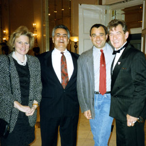 1993,   With US Congressman Barney Frank at HRCF fundraiser