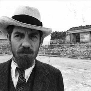 1979, PRIEST OF LOVE: Lawrence sight-seeing in Mexico <BR><BR><em>The splendid panama hat was typical of the care of our costume designer, Anthony Powell.  Before each shot he checked my clothes, particularly around my face when in close-up.  He taught me that the brim of a hat should always be parallel with the ground, if it was to look good from all angles.  The temptation is to push hats back off the forehead, which may reveal the face nicely but looks sloppy from the side.</em>