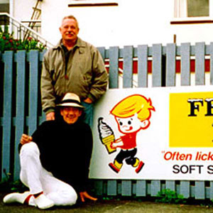 Armistead Maupin and Ian McKellen, Akaroa, New Zealand, May 2000