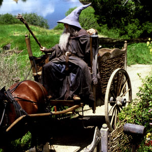 2000, THE LORD OF THE RINGS: THE FELLOWSHIP OF THE RING: Ian McKellen as Gandalf the Grey  - Photo by Pierre Vinet