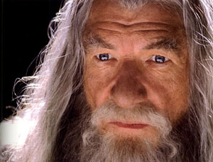 2001, THE LORD OF THE RINGS: THE FELLOWSHIP OF THE RING: Gandalf the Grey  - Photo by Pierre Vinet/New Line Cinema