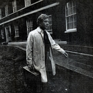 1991,   Actor and Activist: Sir Ian McKellen leaving 10 Downing Street after a meeting with Prime Minister John Major, 24 September 1991  - Photo by Brian Harris