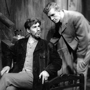 1960, THE WILD DUCK: Hjalmar (Ian McKellen) and Gregers (Corin Redgrave)